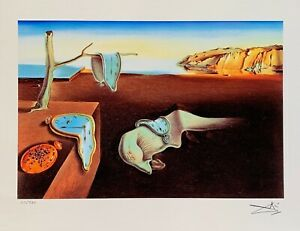 Salvador Dali PERSISTENCE OF MEMORY Facsimile Signed amp; Numbered Giclee Art $49.99