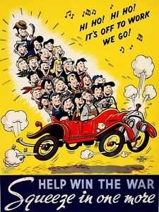 4145.Help with the war. Squeeze in one more.drive.POSTER.Home School art decor