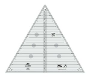 CREATIVE GRIDS TRIANGLE Quilt Ruler 12quot; 60 Degree Pyramid Tumbling Baby Blocks $31.49