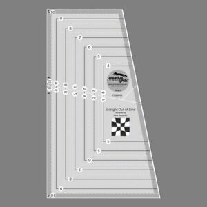 Creative Grids STRAIGHT OUT OF LINE Curve Illusions Quilt Ruler 4 Patch Blocks $22.99