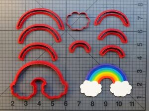 Rainbow and Clouds 266 A019 Cookie Cutter Set