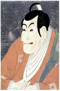 7345.Portrait of Japanese man.close up.holding hands.POSTER.art wall decor
