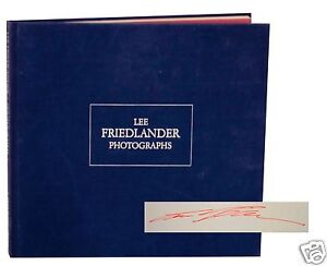 Lee Friedlander Photographs Signed 1st Edition Hardcover Classic Photo Book
