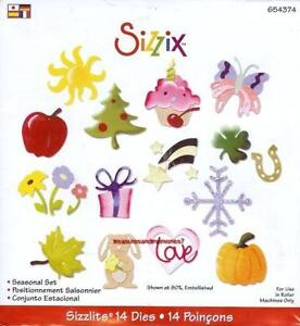 Sizzix Sizzlits SEASONAL SET 14 Dies! RARE! ONLY ONE ON EBAY!! MUST HAVE! 654374