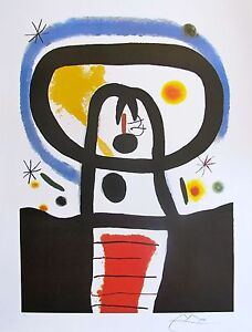 JOAN MIRO quot;EQUINOXquot; Signed Limited Edition Large Lithograph Art $59.99