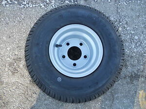 18.5X8.50 8 LOAD STAR TRAILER TIRE ON SILVER RIM COMBO BEST PRICE ON E BAY
