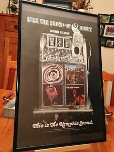 3 BIG 11X17 FRAMED STAX RECORDS MEMPHIS TENNESSEE LP ALBUM CD VINTAGE PROMO ADS