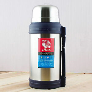 APOLLO Stainless Steel Insulated Vacuum Bottle Thermos Flask Hot Cold Water 2L