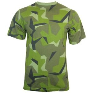 Swedish Camouflage T Shirt 100% Cotton Army Military Top All Sizes New
