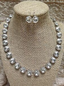 Handmade Swarovski Crystal Necklace & Earring Set