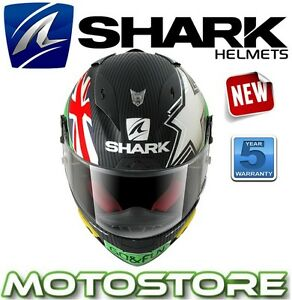 SHARK RACE-R PRO CARBON SCOTT REDDING GO & FUN MOTORCYCLE RACING SPORTS HELMET