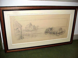 Montaut ORIGINAL Pencil Drawing Study For Lithograph