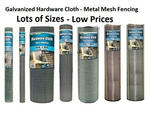 Many Sizes - Galvanized Hardware Cloth - Metal Mesh Fencing Wire