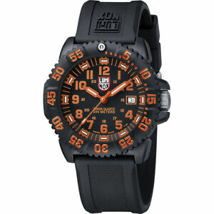 Luminox Authentic 3059 EVO Navy Seal Dive Colormark BlkOrg  Dial Night Vision!