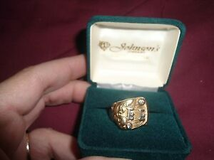 One Of It's Kind Two Real Diamonds14 Carat Gold Mens Ring