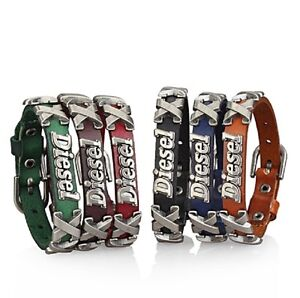 New Diesel Genuine Leather Men & Women X Bracelet 6 COLORS