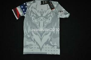 Under Armour Freedom USA Compression Shirt 1262865  Boys Sizes White Camo NWT
