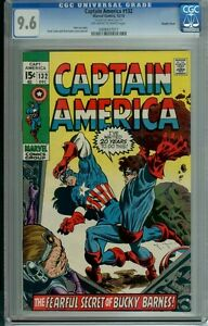 CAPTAIN AMERICA #132 CGC 9.6 OWW PAGES DOUBLE COVER STAN LEE RARE ONLY 5 IN 9.6