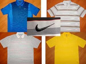 LOT of 4 - NIKE GOLF DRI-FIT & TIGER WOODS SHORT SLEEVE POLO SHIRTS MENS LARGE