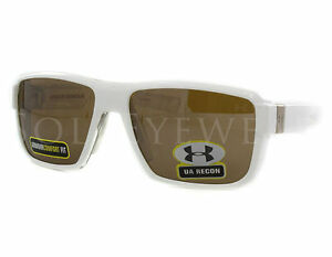 NEW Under Armour Recon Clear White Brown Multiflection 8600044-5221 Sunglasses