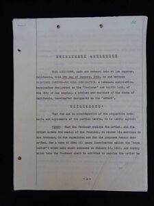 Walter Lang Director 20th Century Fox Contract 1954 Signed Lew Schreiber 2