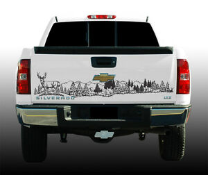 Wildlife Tailgate Graphic Deer Scene 60quot; X 12quot; Vinyl Decal
