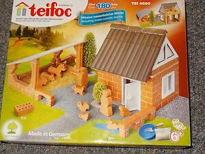 Teifoc Farm Building Brick Set Construction Toy Real Brick & Mortar TEI 4600