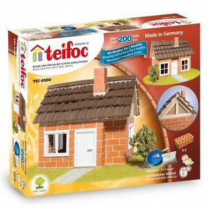 Teifoc Framework House Construction Set Real Brich & Mortar Building TEI 4300