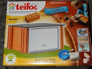 Teifoc Garage Real Brick & Mortar Construction Building Set Toy TEI 1011