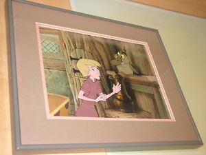 Disney's Sword in the Stone  -  Production cel of Wart + Archimedes -- 1963