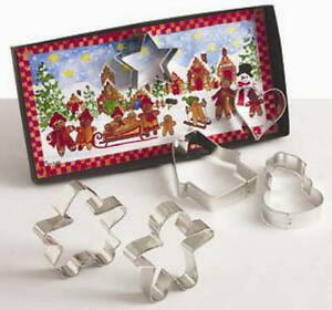Ann Clark GINGERBREAD Cookie Cutter Gift Set With Recipes  USA