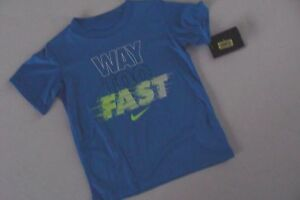 Nike Dry Fit Shirt Top Boy's Boy Size 4 NWT NEW Way To Fast Blue