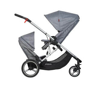 Phil Teds New Voyager Stroller Double Kit Grey Marl Brand New $379.00