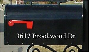 Mailbox Numbers Custom Mailbox Number and Street Name Sticker 2x10