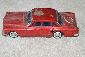 vintage bandai tin friction toy car plymouth