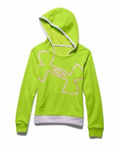 Under Armour Girls Big Logo Lightweight French Terry Hoodie Save 35%  Medium