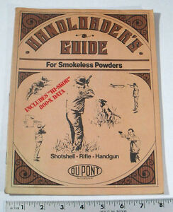 1983 DuPONT HANDLOADERS GUIDE FOR SHOTSHELL & RIFLE