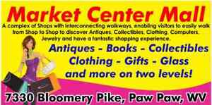 MALL of 9 Shops of Antiques~Books~Gifts~Clothing~Vintage Odds & Ends & FREE RENT
