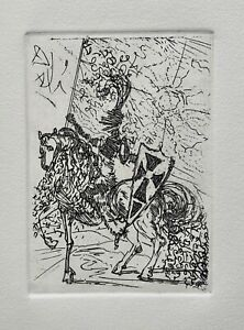 Salvador Dali EL CID Etching Signed in the Plate - In Mint Condition Art!