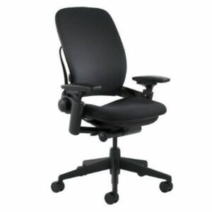 Steelcase Leap Chair  -Open Box- Fully Loaded Black Fabric