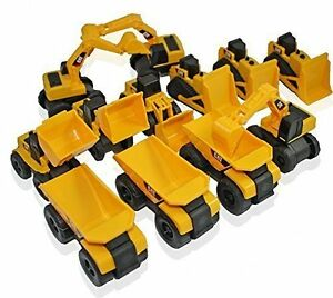 CAT Caterpillar Construction Toys Mini Machine set of 12 Dump trucks tractors