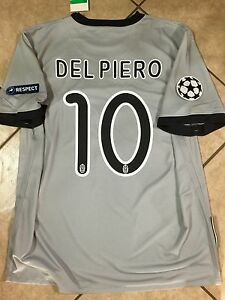Italy Juventus Uefa Del piero  XL Football Soccer Jersey Nike Shirt  Unique