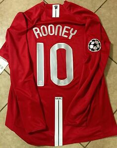 England Manchester United  Player Issue Rooney Shirt Match Unworn Nike Jersey