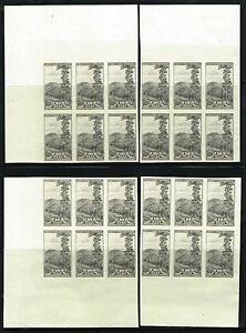 #765 SHEET CORNER BLOCKS OF 6 1935 10c PARKS FARLEY ISSUE MINT NO GUM AS ISSUED