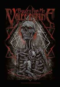 BULLET FOR MY VALENTINE - SKELETON - FABRIC POSTER - 30 x 40  WALL HANGING 52170