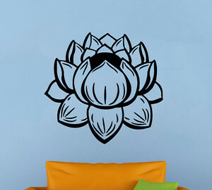 Lotus Flower Vinyl Decal Yoga Wall Sticker Lily Atr Murals Home Wall Decor 3lts