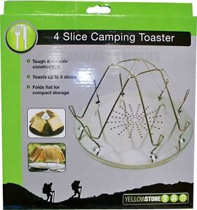 YELLOWSTONE OUTDOOR CAMPING 4 SLICE TOASTER FOR GAS HOB COOKER