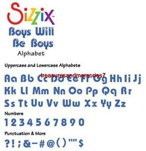 Sizzix Sizzlits Alphabet Set Medium BOYS WILL BE BOYS 655413
