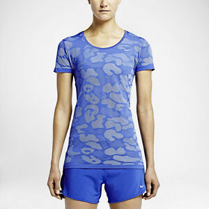 Nike Women's Dri Fit Blue Camo Running Shirt Save $40!!   Small  Large  Soccer