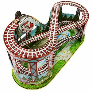 toys mechanical wind up roller coaster toy tin